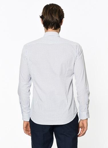 Slim Fit Puantiyeli Gömlek-Daffari